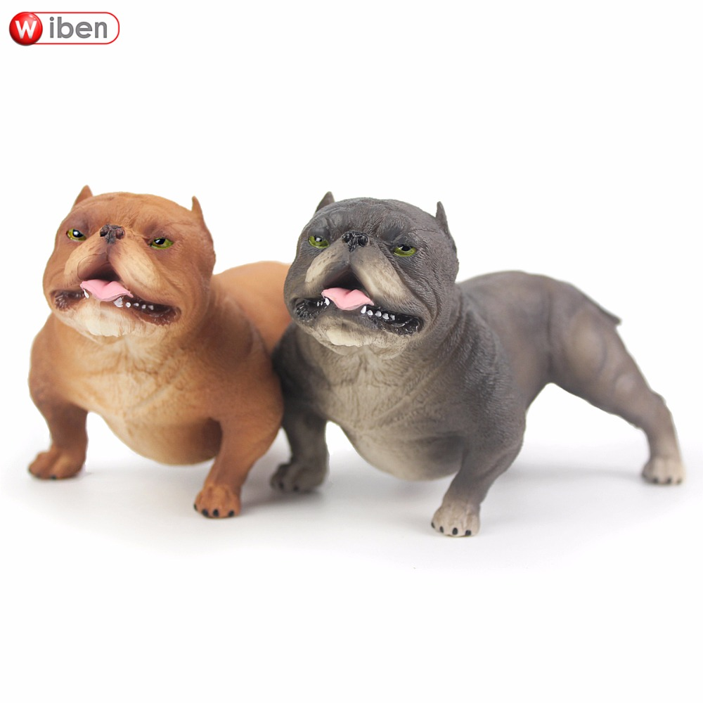Wiben Hot toys Pet dog Bully Pitbull Simulation Animal model Action & Toy Figures Learning & Education Gifts lps pet shop toys rare black little cat blue eyes animal models patrulla canina action figures kids toys gift cat free shipping
