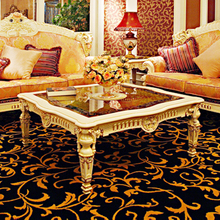 hot sale European style woodcarving square coffee table, living room furniture