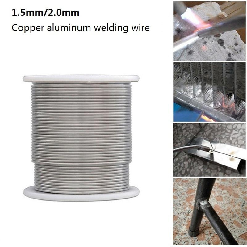 1.6/2mm Solder Welding Wire 1/2/3/5m Low Temperature Copper Aluminum Welding Wire Electrode Flux-Cored Welding Rod For Repair