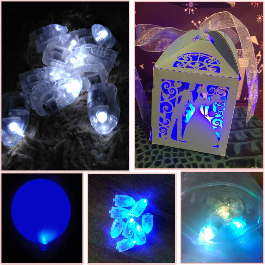 20a1c308ec6 50 unids lote luces de globo LED blancas para globos de papel luz azul  cálido blanco Mini lámparas LED para decoración de fiesta de boda