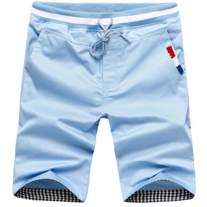 Men Beach Shorts 2017 New Summer Casual Shorts Men Cotton Fashion Style Mens Shorts Size M- 3XL Short For Male Medium Waist