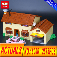 LEPIN 16005 2575Pcs The Simpsons House Model Building Block Bricks Compatible 71006 Boy Gift