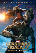 Guardians Of The Galaxy – Rocket & Groot art silk Poster