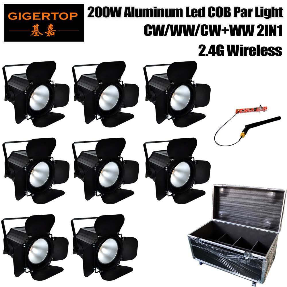 4in1/6in1/8in1 Road Case Pack 200W Warm White 3200k/Cold White 6500k Professional Stage Led Par Profile Light 2.4G Wireless ISM