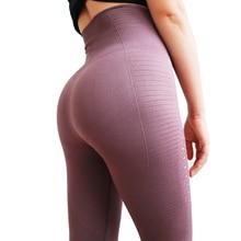 Высокая талия брюки Йога Акула центр бесшовные эластичные леггинсы упражнения колготки Для женщин брюки для Фитнес Йога, бег, спорт