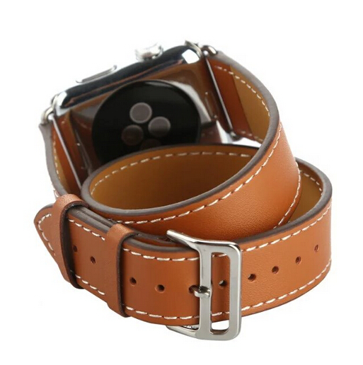 Series 4/3/2/1 Double Tour band for Apple Watch 38mm 42mm 40mm 44mm Genuine Leather Band Belt Bracelet Strap,For iwatch strap leather strap for apple watch 38 42mm 40 44mm single double tour genuine replacement leather band for iwatch series 1 2 3 4