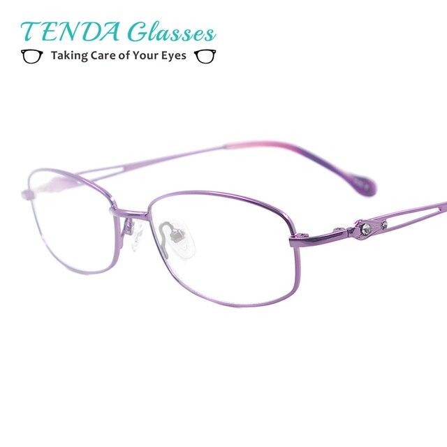 6201ce260ef Medium Metal Women Spectacles Full Rim Colourful Glasses Frame For  Multifocal Prescription Lenses