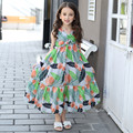 2017 Summer Style Cute Sleeveless Floral Baby Girls Clothing Children's Clothes Next Costume For Kid Little Girl Printed Dresses