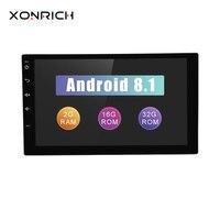 Xonrich автомобильный мультимедийный плеер 2 din автомагнитола Android 8,1 головное устройство для Nissan Xtrail Qashqai без DVD gps магнитофон ГБ + 32 ГБ