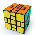 WitEden 3x3x4 Magic Cube Speed Puzzle Cubes Cubo Magico Kids Toys Brain Teaser IQ Learning Educational Toy Mixup Plus Black Body