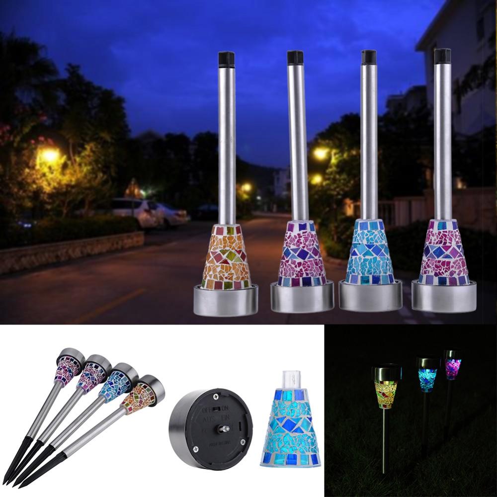 4pcs Lot High Quality Solar Power LED Garden Light Solar Energy Outdoor Lamp