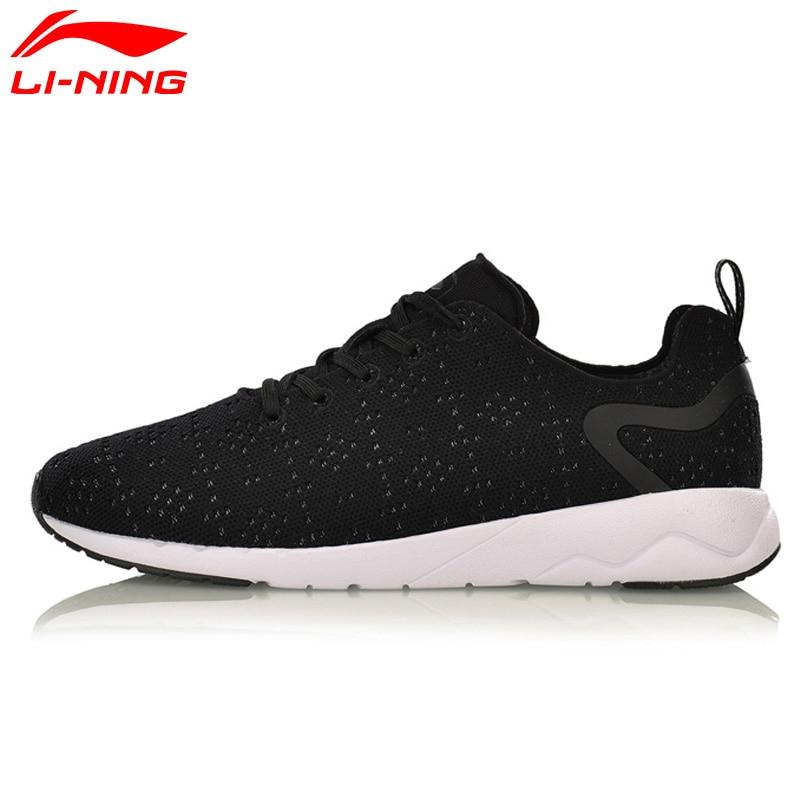 Bruyère de Li-Ning Hommes Loisirs Waling Chaussures Mono Fil Portable Anti-Glissement Doublure Sport Chaussures Respirant Sneakers AGCM055 YXB076