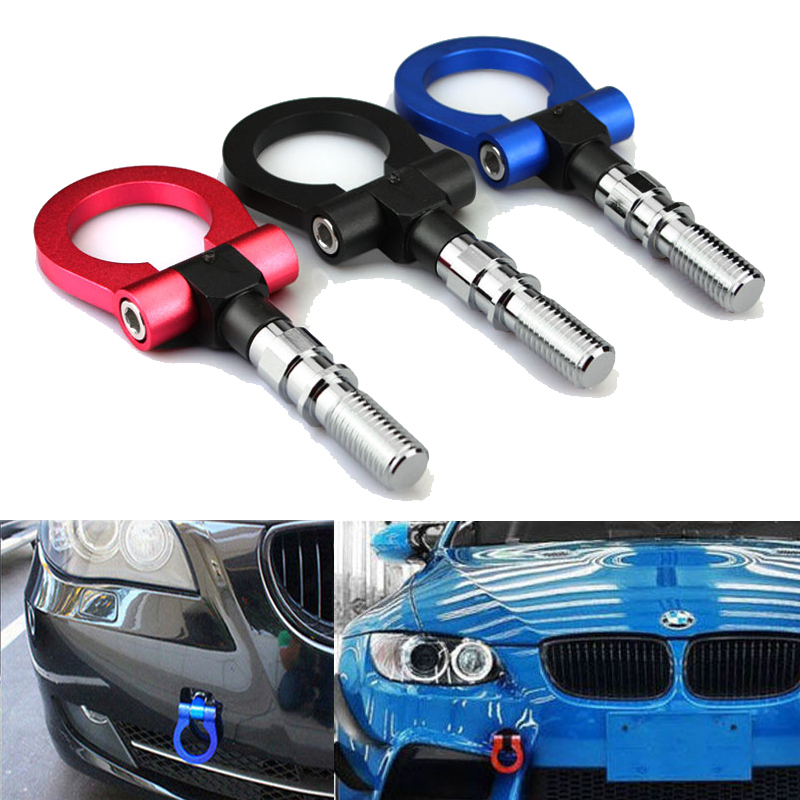 Tow Hook Red Aluminium Strap Ring Front Racing for HONDA CIVIC TYPE R FN2 2.0-in Towing ...