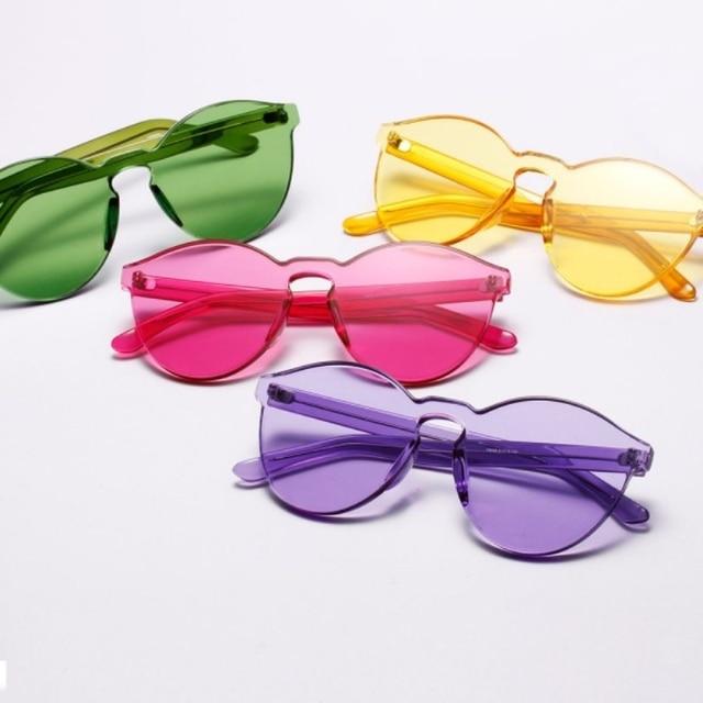 Candy Color Fashion Korea Women Men Sport Sunglasses Eyewear Eyeglasses Brand Designer Goggles 2016
