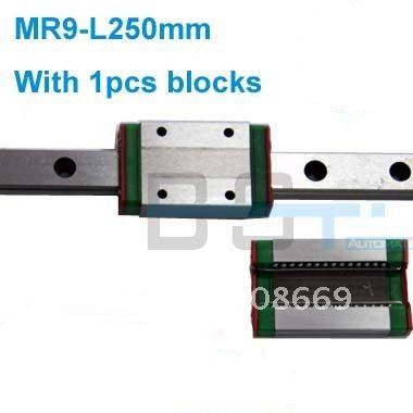 Здесь продается  linear guide rail MR9 -L250mm+1pcs blocks carriage # HIWIN MGN9C TYPE  Аппаратные средства