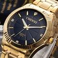 Chenxi completa de relógio de ouro dos homens relógios Top marca de luxo de quartzo impermeável - relógio de pulso de aço relógios para homens relojes hombre 2016