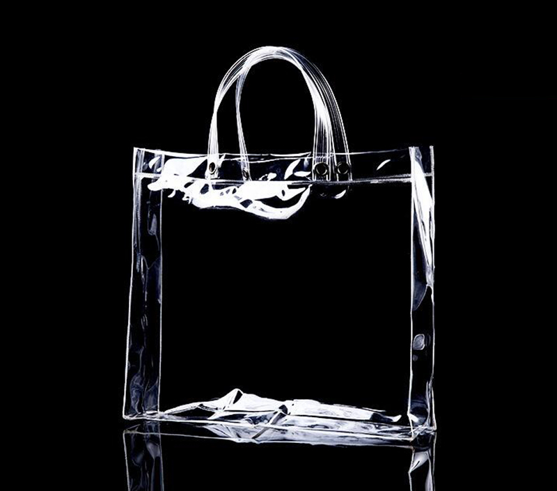 5743334c523 Custom Transparent PVC Handbag Promotional Tote Bag PVC Plastic Vinyl  Shopping Bag with Customized Logo Printing-in Shopping Bags from Luggage &  Bags on ...