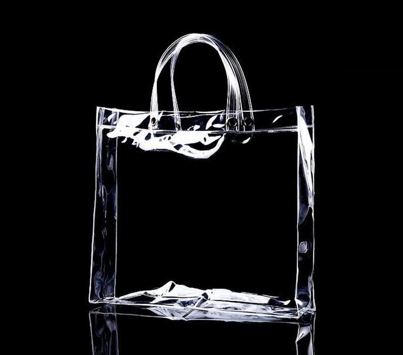 Aliexpress.com : Buy Custom Transparent PVC Handbag Promotional ...