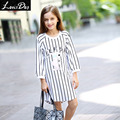 LouisDog knee-length stripe dress for teenage girls kids casual dresses for Spring Autumn size 6-16 yrs
