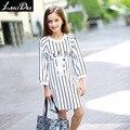 LouisDog na altura do joelho-comprimento vestido da listra para adolescentes crianças meninas vestidos casuais para a Primavera Outono tamanho 6-16 anos