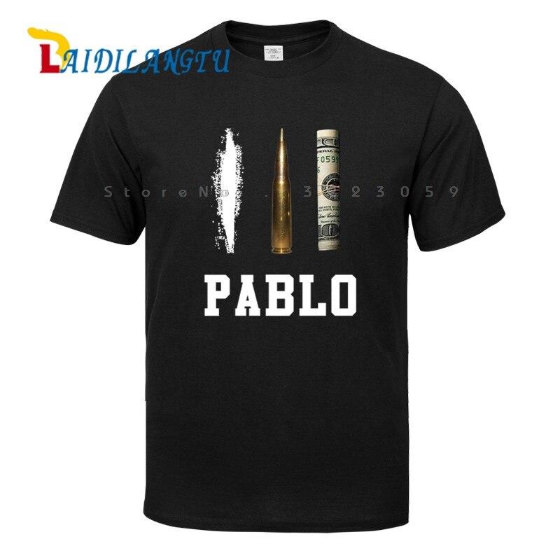 Verão Roupa Nova Marca T Shirts Homens Narcos Pablo T-shirt de Algodão Hip Hop O Pescoço Tees Tops
