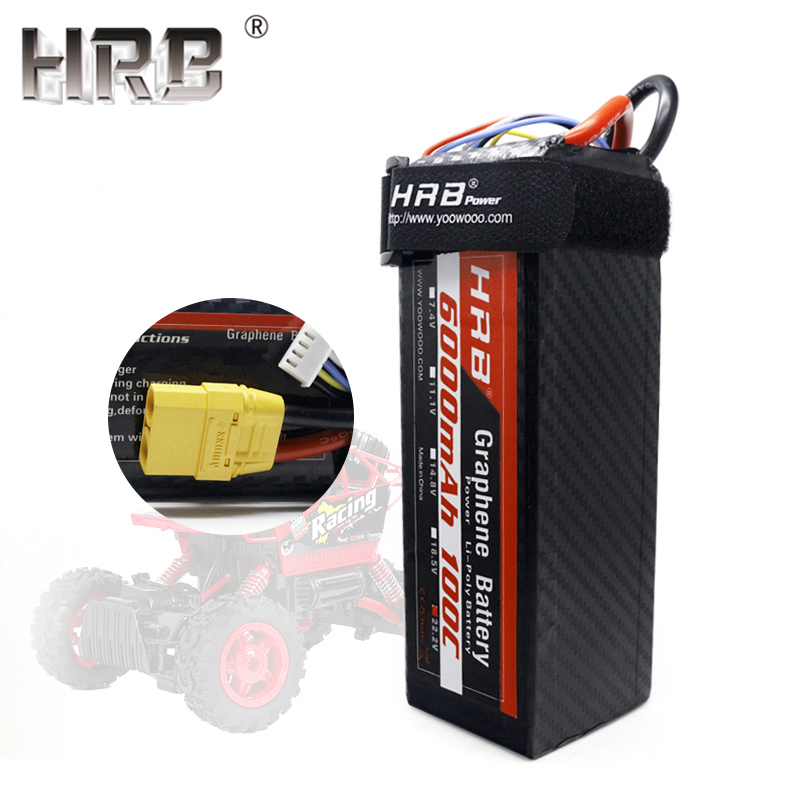 HRB 22 2V Graphene Lipo Battery 6000mah 6S 100C TRX XT90 EC5 Deans XT60 For Catamaran