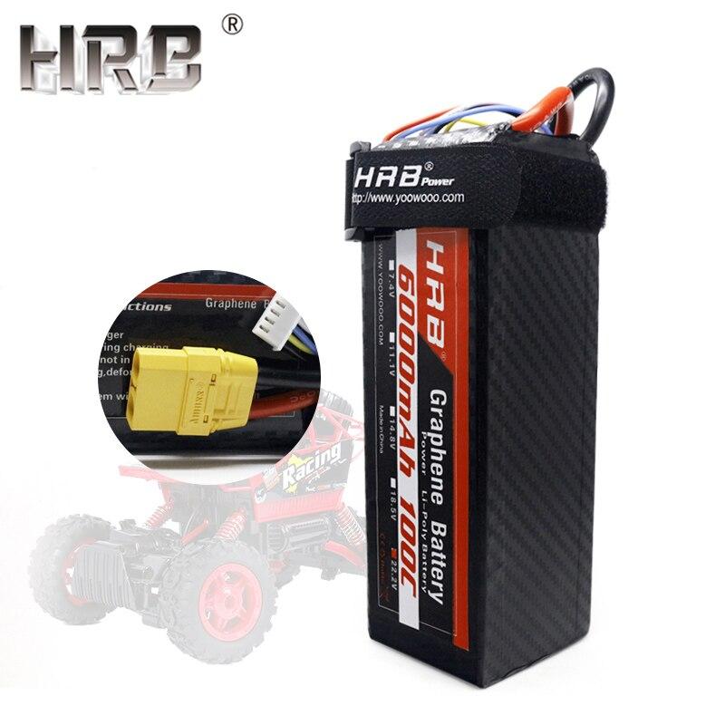 Oyuncaklar ve Hobi Ürünleri'ten Parçalar ve Aksesuarlar'de HRB 22.2 V Grafen Lipo Pil 6000 mah 6 S 100C TRX XT90 EC5 Dekanlar XT60 Katamaran Tekneler 4WD buggy Arabalar Kamyon RC Parçaları T TRX'da  Grup 1