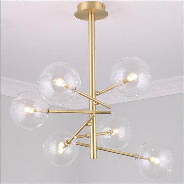 Post Moderne Loft Gold Eisen Glas Ball Modo G9 Pendelleuchte Fr Esszimmer Wohnzimmer Bar Restaurant