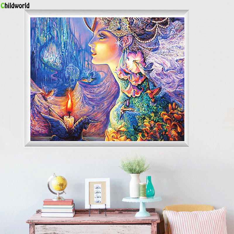 60x50cm Diamond Embroidery Round Fantasy Stickers Drill Cross Stitch Bedroom Rubik s Cube Paintings