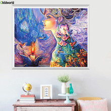 60x50cm Diamond Embroidery Round Diamond Fantasy Stickers Drill Cross Stitch Bedroom Rubik 's Cube Diamond Paintings rubik s мишка рубика 3х2х1 rubik s
