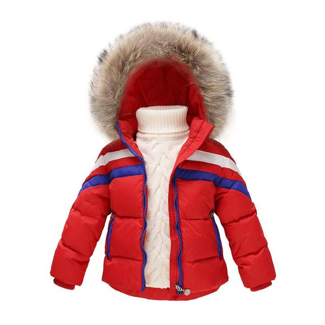 936da57d901ca New kids Winter Jacket Children s down Coat Boys Girls Baby Infant coats  removable cap thick winter
