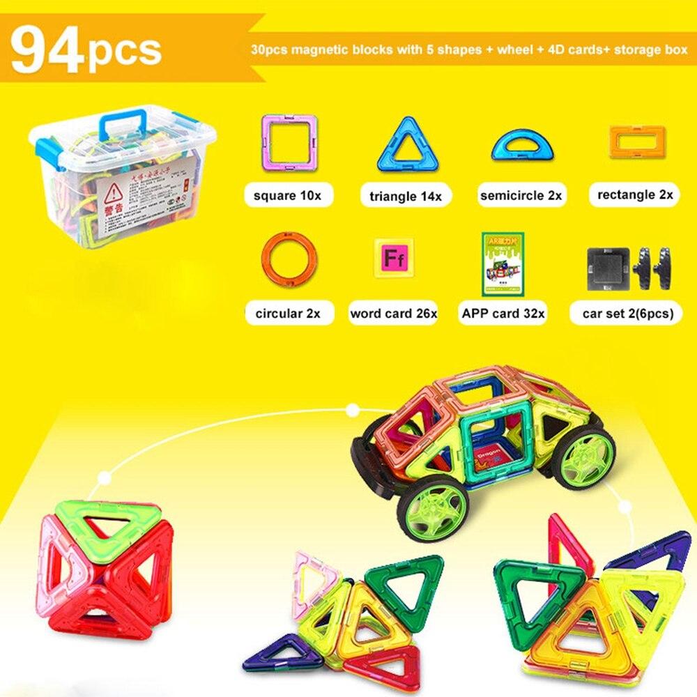94 PCS Concepteur magnétique de blocs de construction modèle et - Concepteurs et jouets de construction - Photo 5
