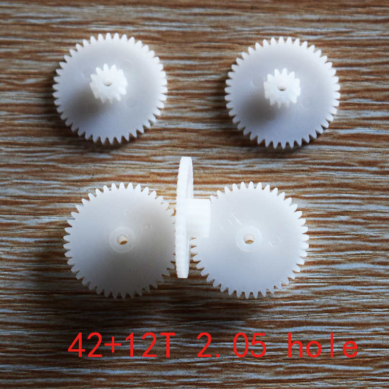 10/100pcs 42+12teeth 2mmhole OD 22mm Double Plastic Gears/reduction Gear/diy Toy Parts Technology Model Part Rc Car 42122B