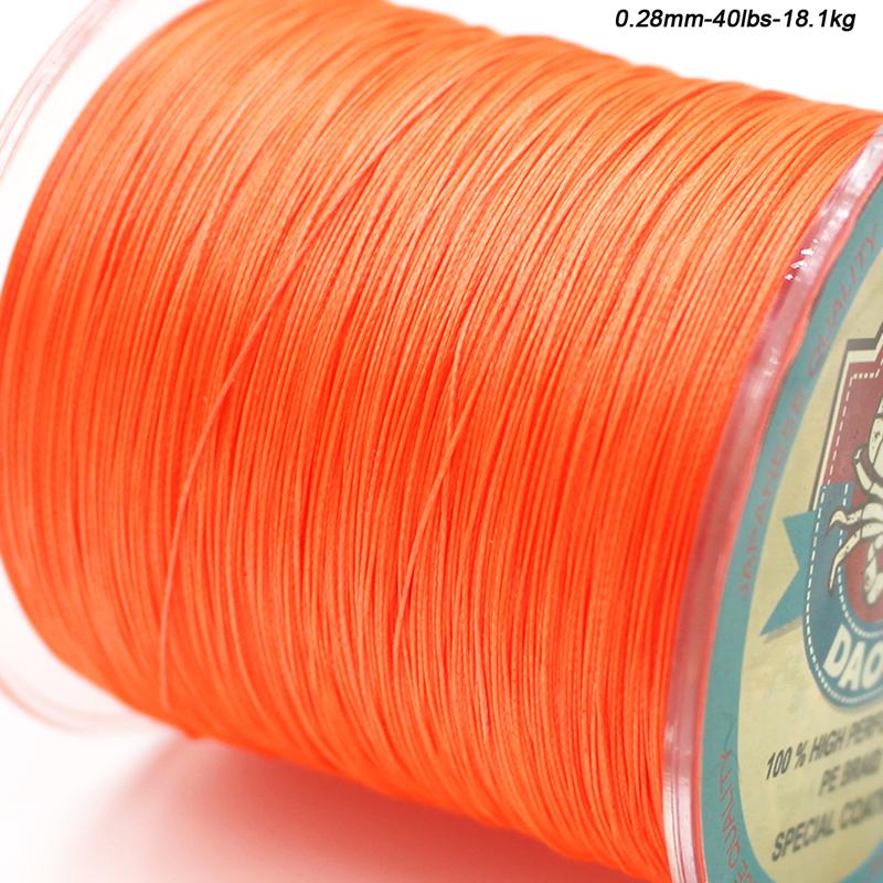 8-Strands Braided Fishing Line orange d