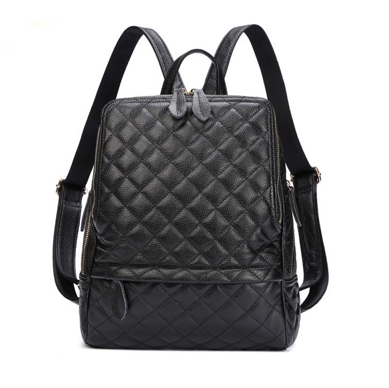 Caker Brand 2018 Women large big Diamond lattice Fashion Women Genuine Cow Leather Pattern Backpacks School Bag Back Bags диляра шкурко серое прозрачное в крапинку