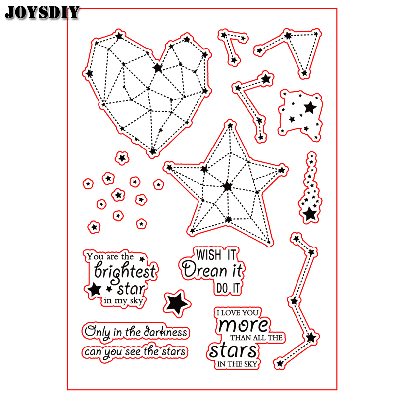 WISH IT DREAM IT DO IT STARS Scrapbook DIY photo cards account rubber stamp clear stamp transparent stamp Handmade card stamp scrapbook diy photo cards account rubber stamp clear stamp transparent stamp aboutenglish letter phrase tm 004