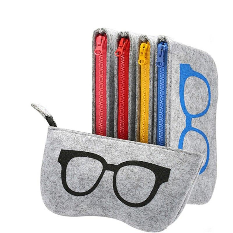 Multicolor Print Sunglasses Bag for Women Men Glasses Case Felt Cloth Eyewear Bags Eyeglasses Cases Accessories