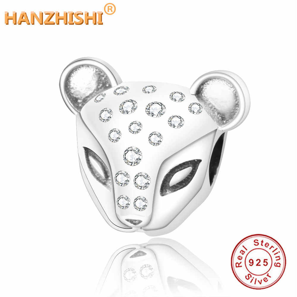 2019 Summer Collection 925 Sterling Silver Shining CZ Lion Charm Beads Fits Original Pandora Charm Bracelets DIY Jewelry Making