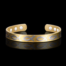 HOMOD Adjustable Length Health Magnetic Bracelet For Women copper With Fish pattern cuff bangles