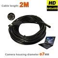 6 LEDs 7mm IP67 A Prueba de agua Tubo USB Del Animascopio de La Serpiente Cámara de Inspección Del Endoscopio Del USB MINI Cámara de Vídeo Con 2 M Cable Flexible