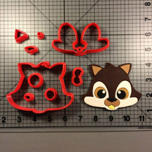 Squirrel Face Custom Made 3D Printed Fondant Cupcake Top Cookie Cutter Set