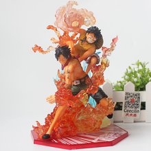 Anime One Piece Monkey D Luffy and Ace Brothers Bond pvc Collection Model Figure Toys