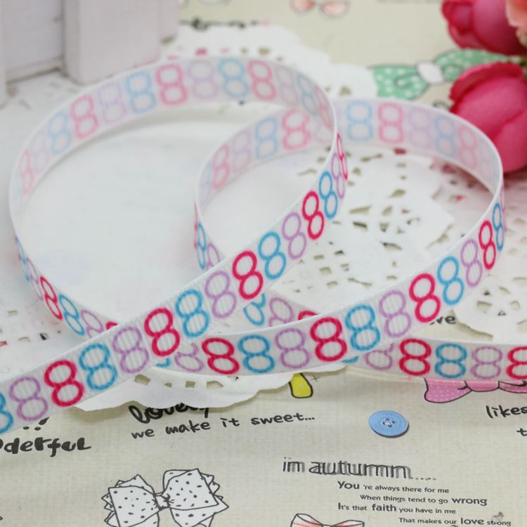 3/8 Free shipping circle traffic light printed grosgrain ribbon hairbow party decoration diy wholesale OEM 9mm P2659