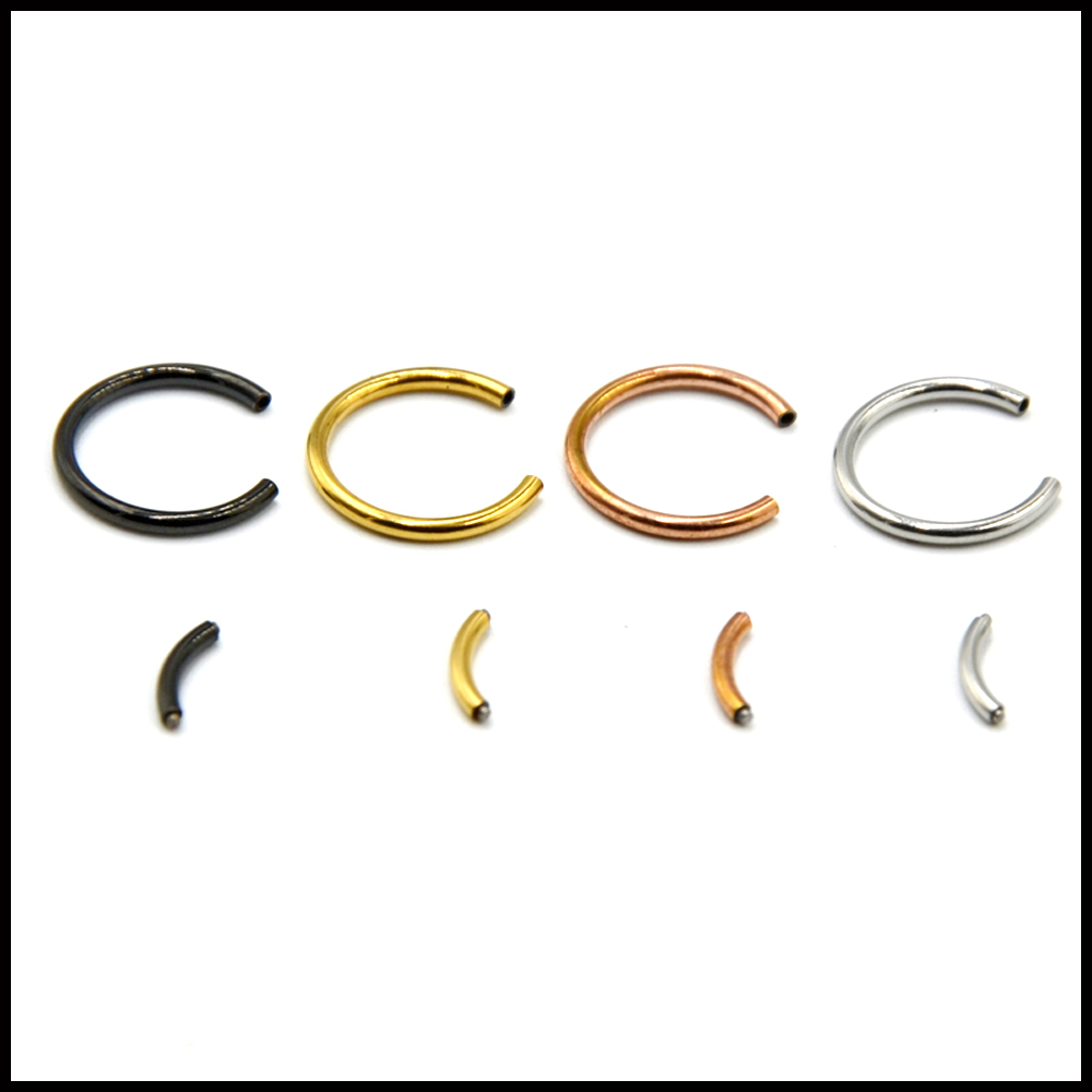 1PC 16G Steel Segment Ring Ear Piercing Nose Rings Captive
