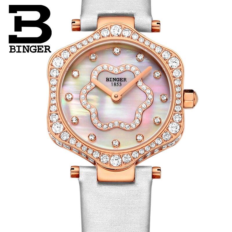 2018 schweiz BINGER Frauen Uhren Luxus Marke Quarz Wasserdichte Uhr Frau Sapphire Armbanduhren relogio feminino B1150 7 - 3