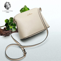 LAORENTOU Genuine Leather Shell Bag Lady Luxury Messenger Bags For Women Bag Fashion Women Crossbody Bag