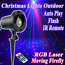 RGB Lights Christmas Laser Projector Outdoor Waterproof  With IR Remote For Home Decorations Christmas Tree Holiday Lighting outdoor lights laser projector christmas decorations for a holiday motion snowflake double color 8 pattern waterproof with timer
