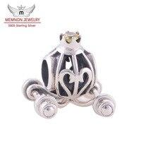 Bí ngô Xe Quyến Rũ Chính Hãng 925 Sterling Silver Fit Châu Âu Vòng Tay Lắc Tay Buôn Memnon Đồ Trang Sức YZ027