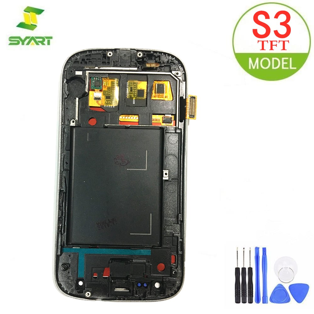 For Samsung Galaxy S3 TFT LCD Display LCD Touch Screen Digitizer Assembly With Frame For Samsung Galaxy S3 i9300 i9300i i9308i