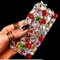 Luxury 3D Color Diamond Case Rhinestone Bling Cover Crystal Fundas Coque Capa Carcasa Para For IPhone